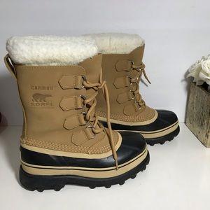 SOREL CARIBOU BUFF Duck Boots Winter Insulated